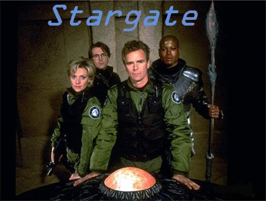 Tým SG-1: zleva Sammantha Carter, Daniel Jackson, Jack O´Neil, Teal´c